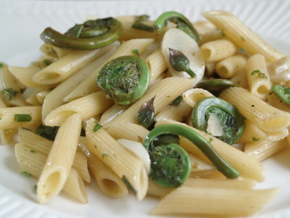 spring fiddlehead pasta (3/4)