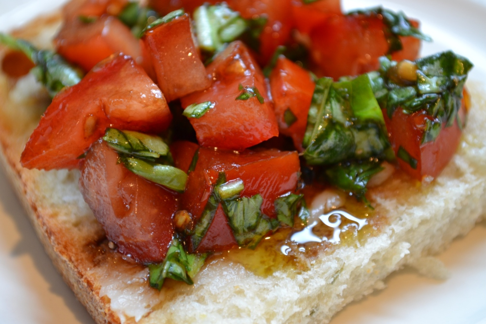amazing bruschetta (no cheese needed) (4/5)