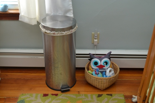trash can with diaper pail liner