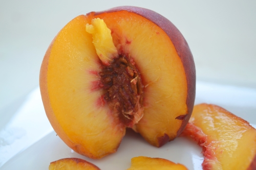my mom sent me to work  with a lovely, juicy peach as a snack