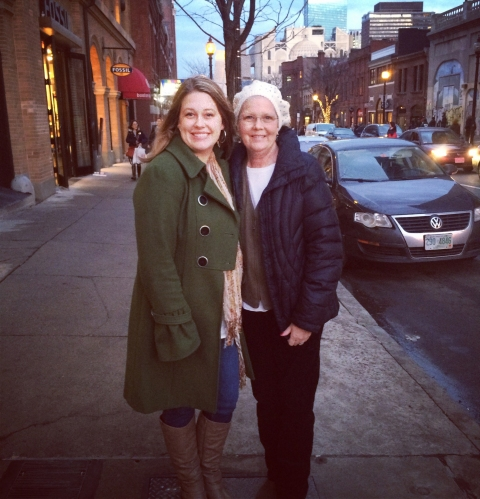 Mom and I on Newbury Street, Boston