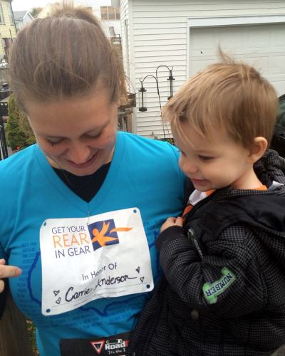 Running in the Get Your Rear in Gear 5K and even better - raising over $1000 for Colon Cancer.