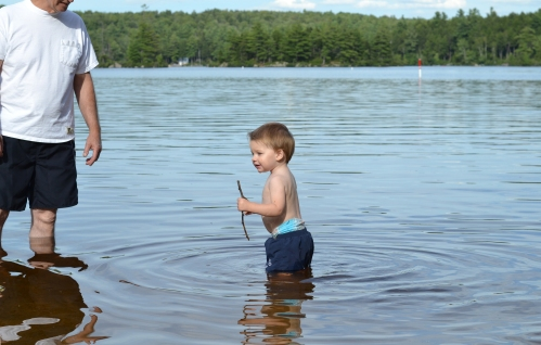 Lots of water and outdoor time--from the Atlantic to the lakes of New Hampshire.