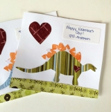 love and dinosaur cards