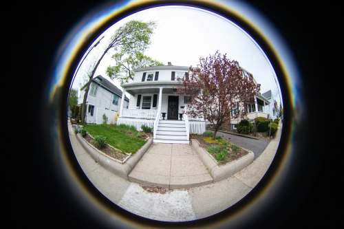 our house - as seen with the Lensbaby Fisheye