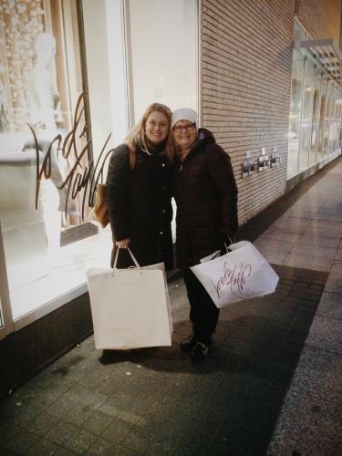 Our annual Newbury Street shopping trip, less than two weeks ago.